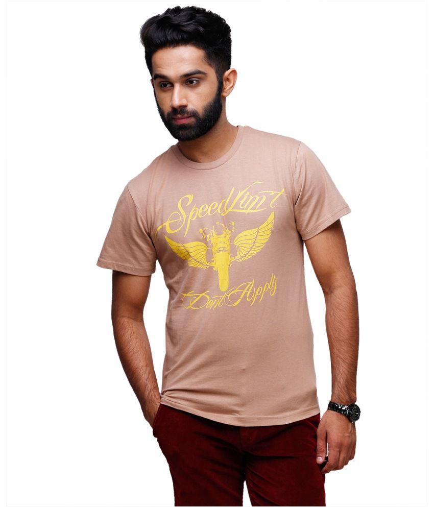 Yepme Brown Cotton T-shirt