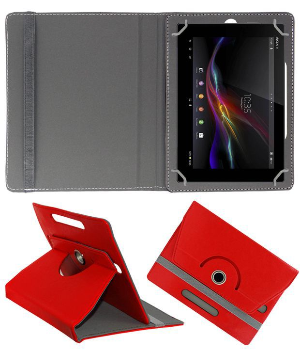 Sony Tablet Z Flip Cover By ACM Red