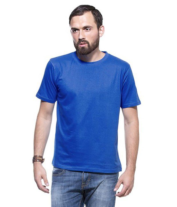 Bay6 Mens Gallery Blue Cotton Tshirt