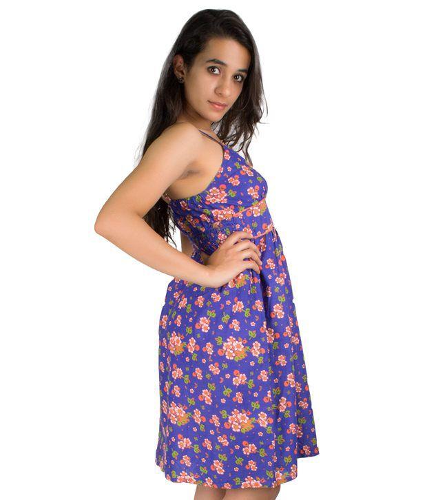 7e87557443c4 Etashee Purple Cotton Dresses - Buy Etashee Purple Cotton Dresses ...