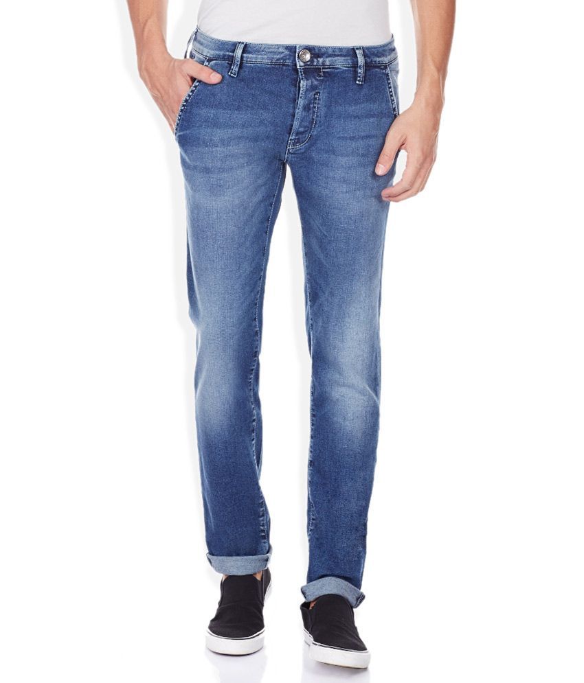 GAS Blue Skinny Fit Jeans