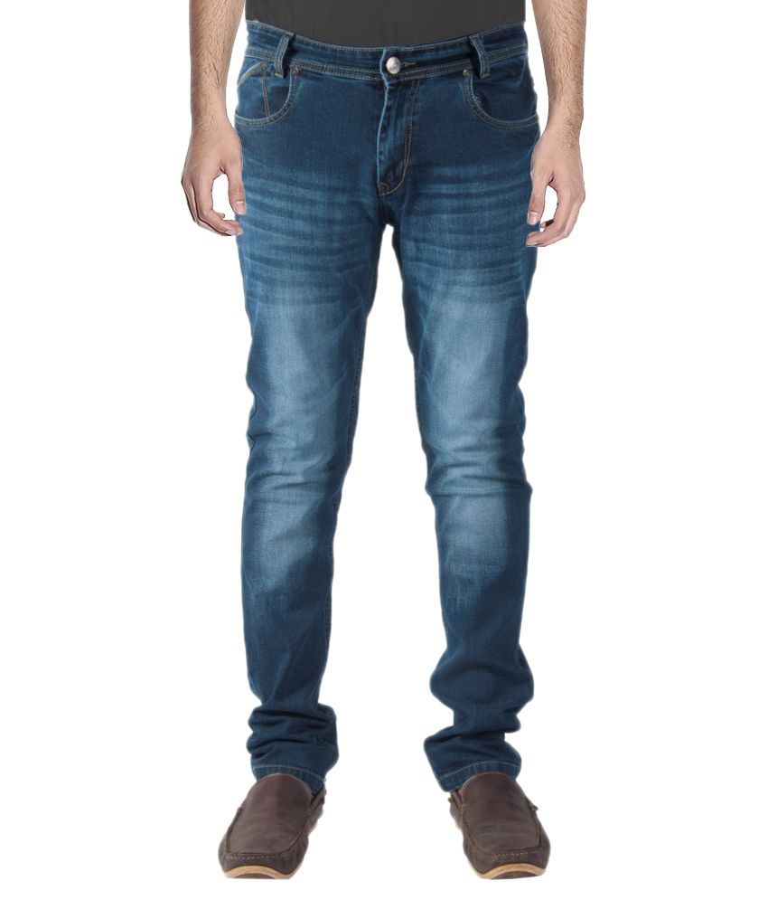 Babas Wear Cotton Blue Regular Denim Jeans