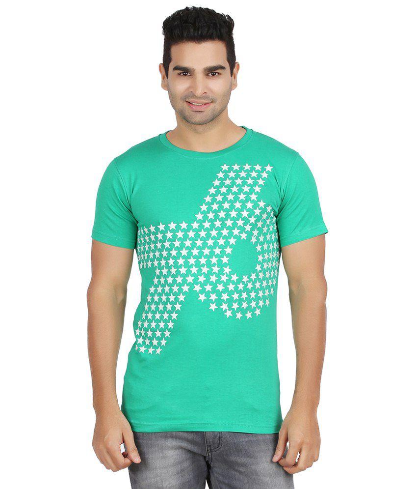 Elroe Green & White Cotton T Shirt