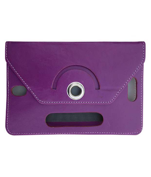 Fastway Leather Flip Stand Cover For Xolo Play Tab 7.0 XTW800 -Purple