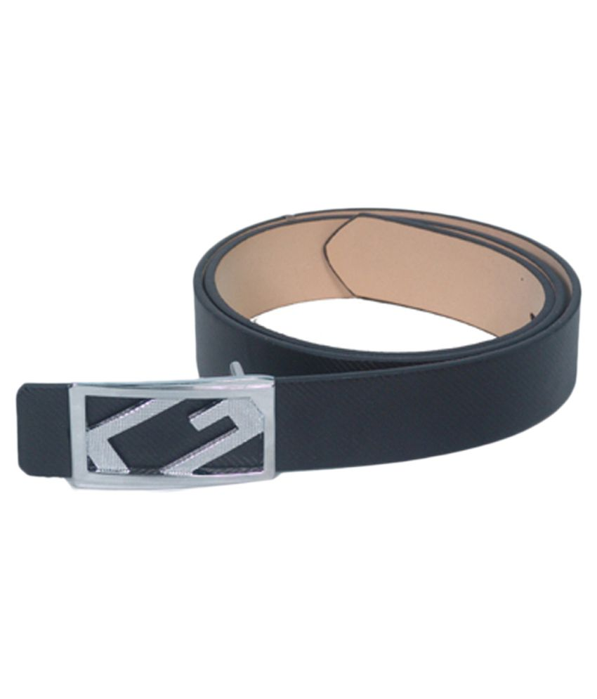 Highway Craze Black Leather Casual Belt