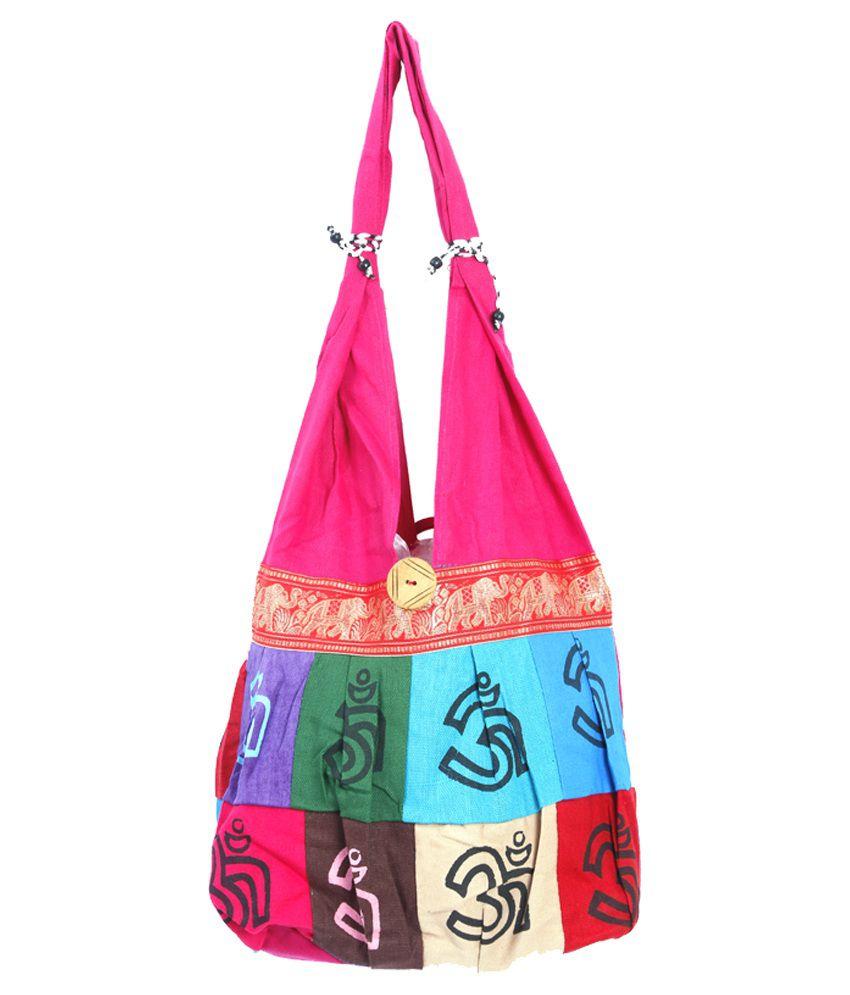 PopularBharat Pink Canvas Cloth Jhola