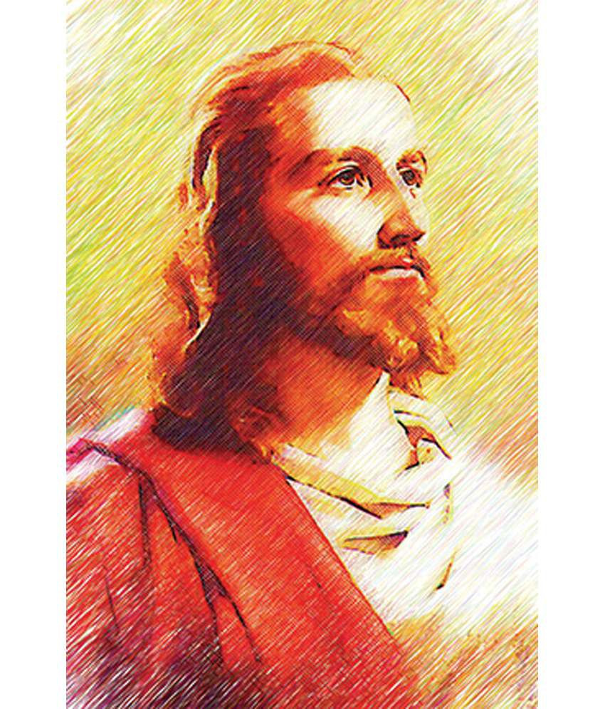 Retcomm Art Painting Jesus Christ In Light Shades And Sketches