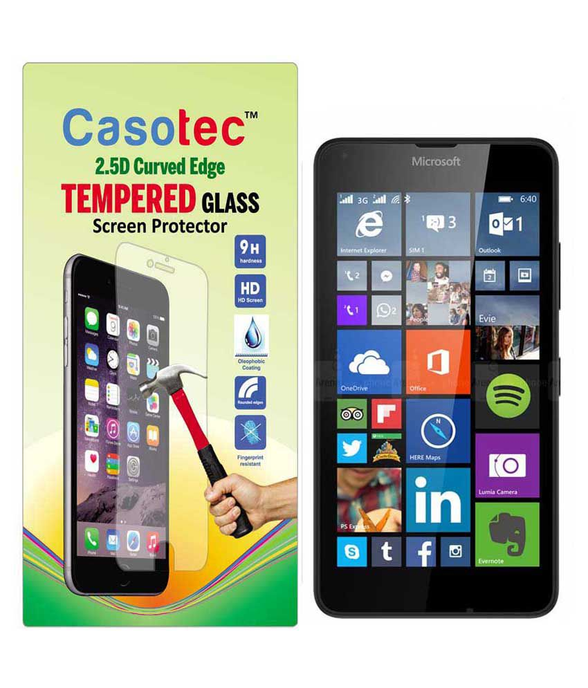 Microsoft Lumia 640 Lte Tempered Glass Screen Guard by Casotec