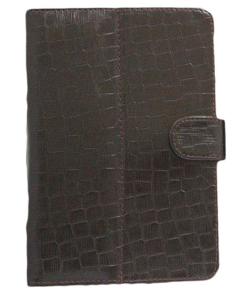 Jo Jo G11 Crocodile Flip Cover For Salora Protab Hd Spt072 - Brown