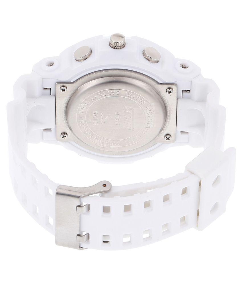 f4742e2a1 Skmei White Analog-Digital Sports Watch - Buy Skmei White Analog ...