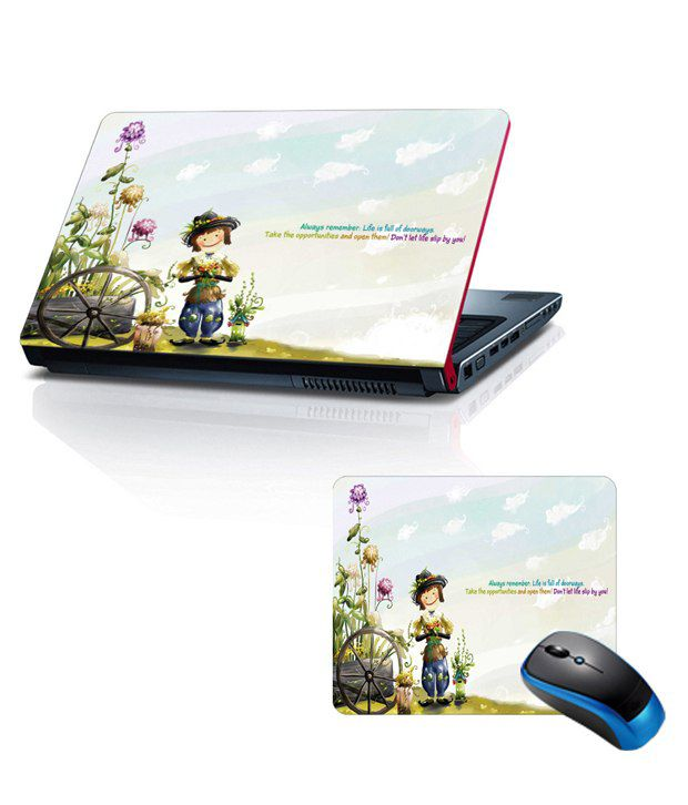 Shopkeeda Combo Of 15.6 Laptop Skin and Mouse Pad Always Remember