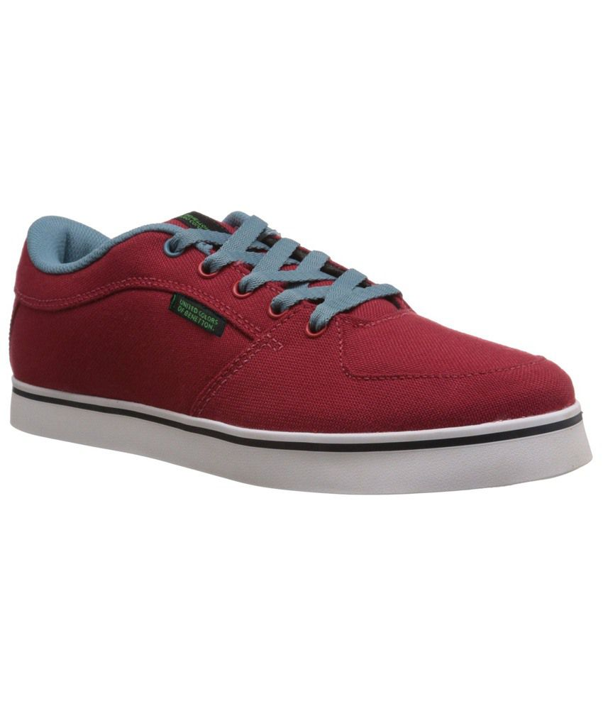 Benetton Red Sneaker Shoes