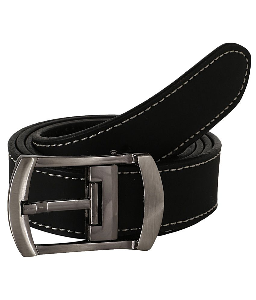 Dswiss Black Leather Pin Buckle Casual Belt