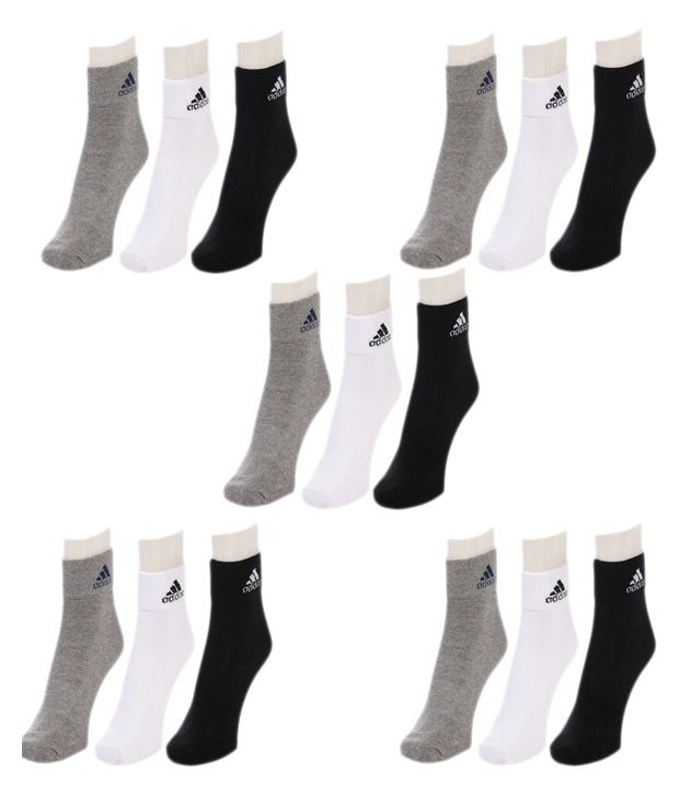 f2b0799639f4 Original Adidas Unisex Multicolour Cotton Ankle Length - 15 Pair Of Socks  Buy  Online at Low Price in India - Snapdeal