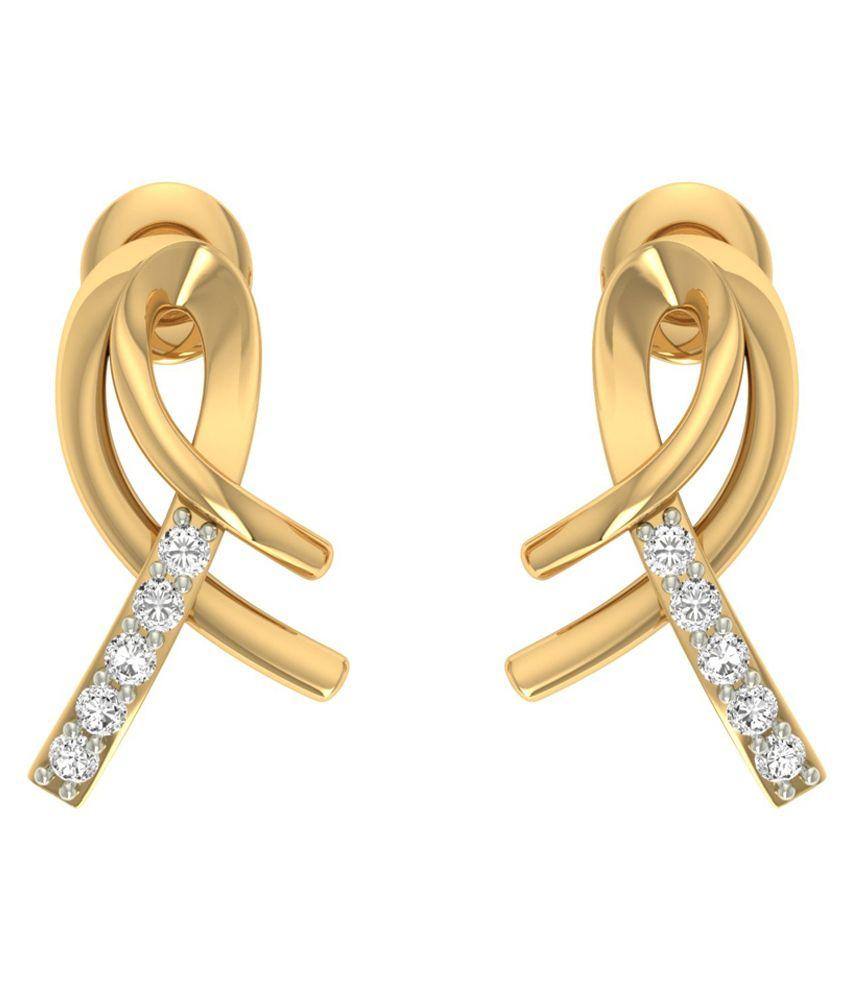 Jewels5 18kt Gold Beallara Diamond Earrings