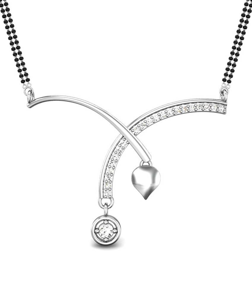 Candere Juliana White Gold 14K Mangalsutra Pendant