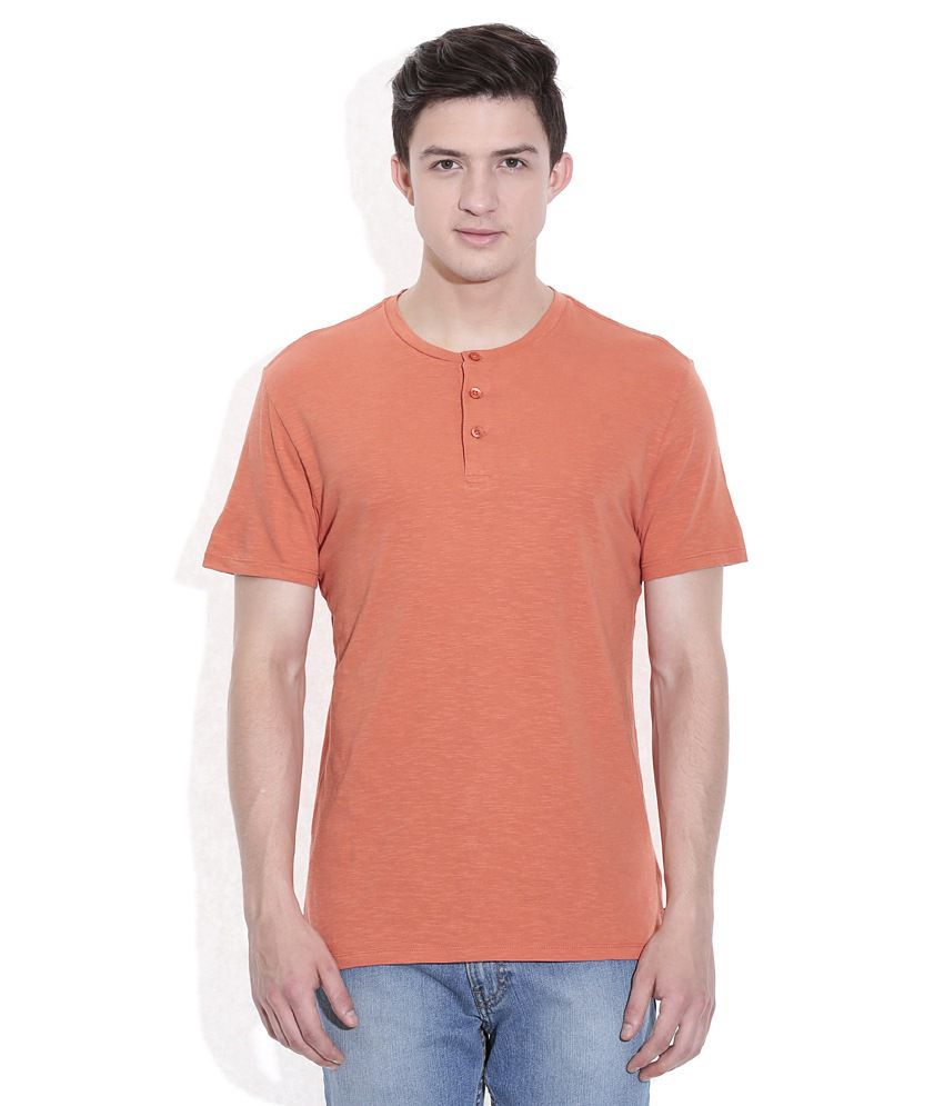 Levis Orange Basics Henley T-Shirt