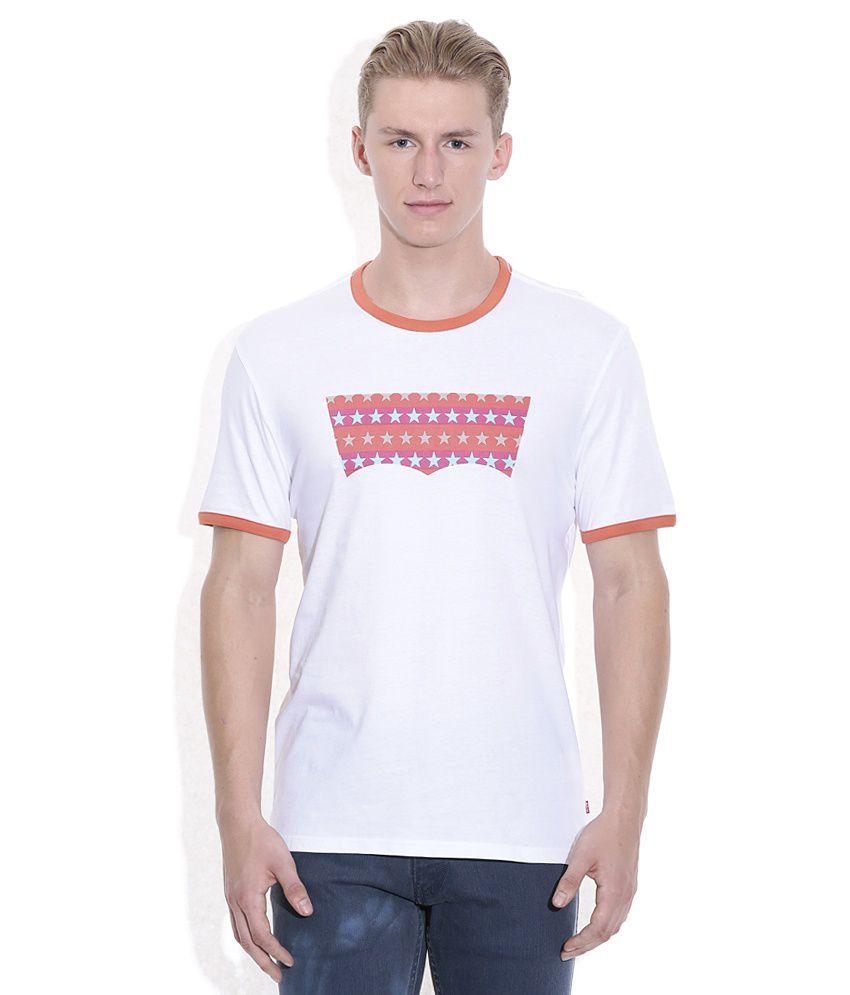 Levis White Basics Round Neck T-Shirt