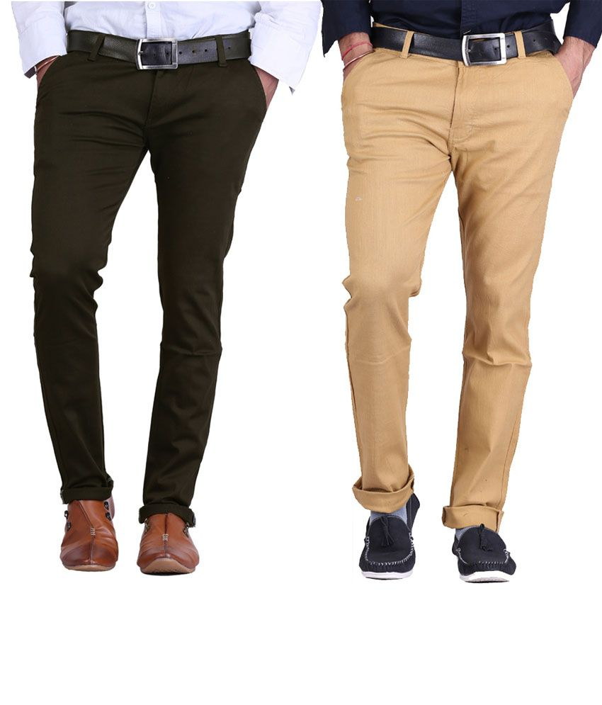 Ave Multi Regular Chinos Trouser