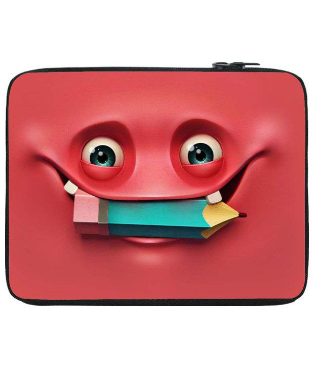 Snoog Red & Green Laptop Sleeve