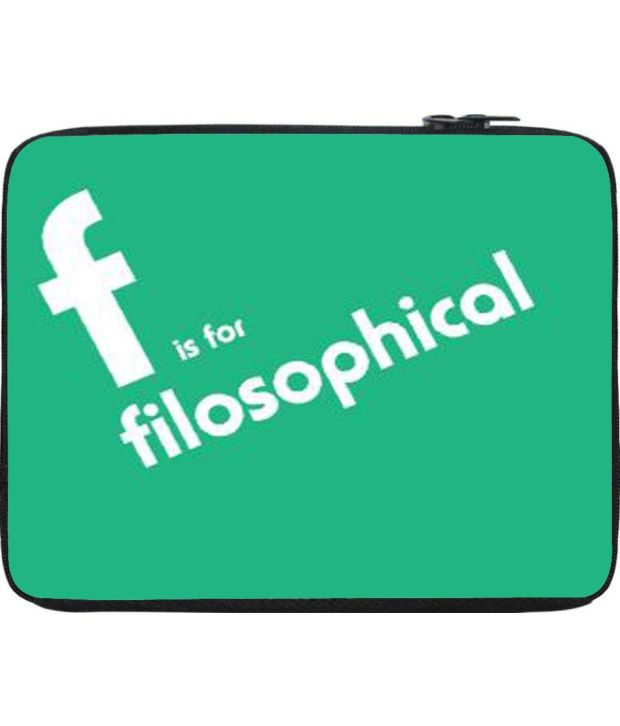 Snoogg Green Laptop Sleeve