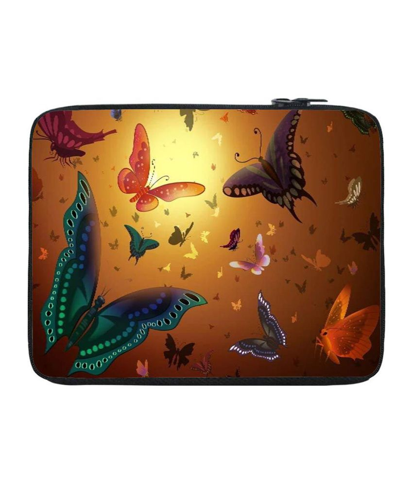Snoogg Multicolour Laptop Sleeve