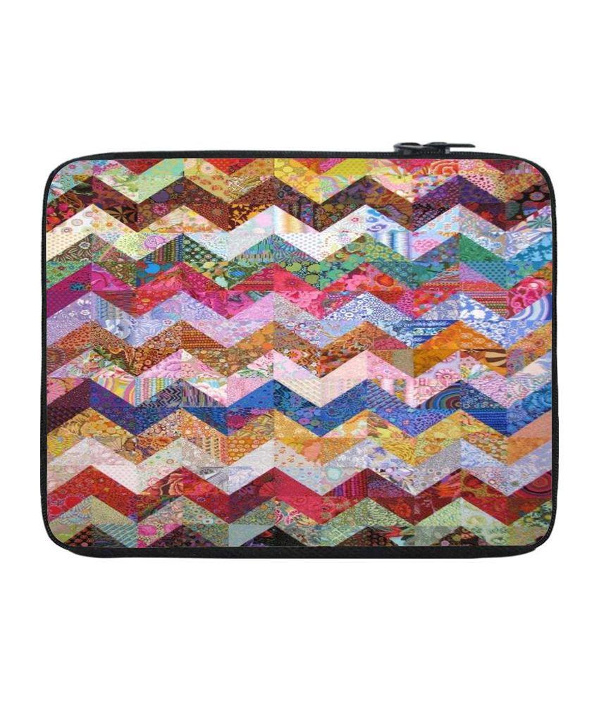 Snoogg Multicolour Laptop Sleeve
