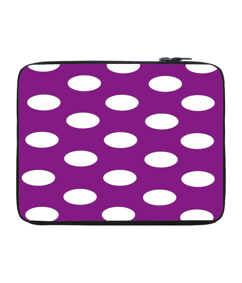 Snoogg Purple and White Laptop Sleeve