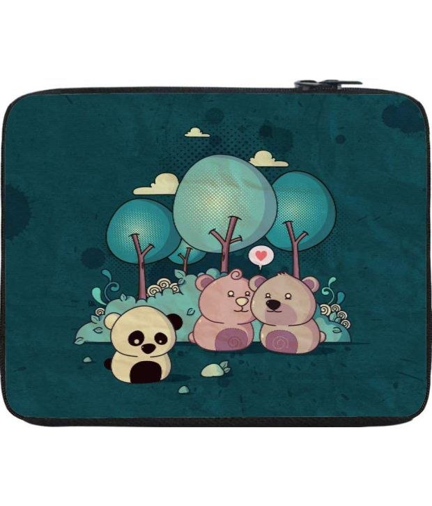 Snoogg Turquoise Laptop Sleeve