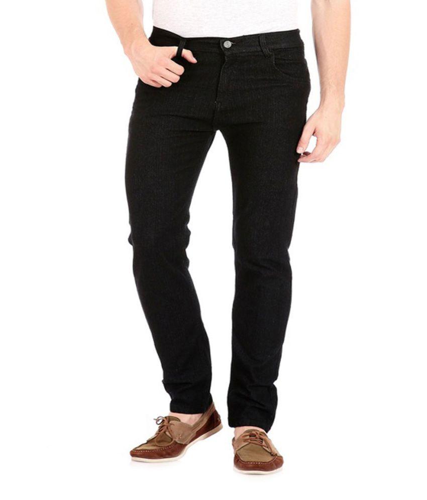 Jovial Mart Store Black Cotton Slim Fit Jeans