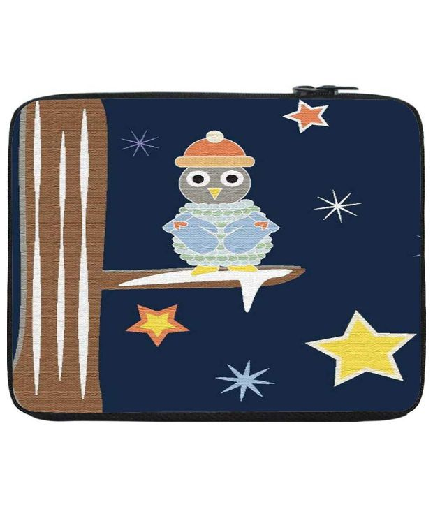 Snoog Blue & Brown Laptop Sleeve