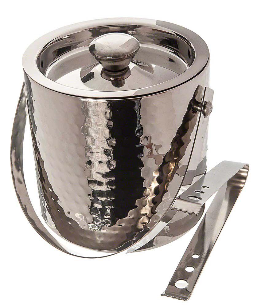 Top Shelf Silver Stainless Steel Ice Buckets