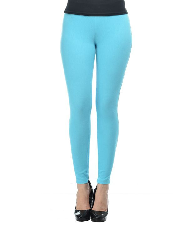 French Trendz Turquoise Cotton Jeggings