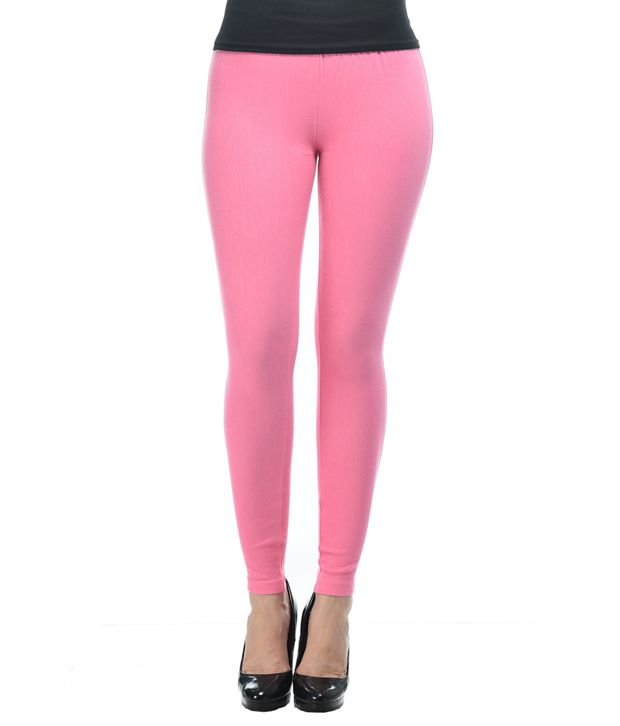 Frenchtrendz Pink Cotton Jeggings