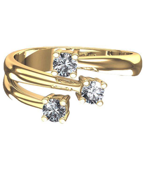 Cara Design House Beautiful 92.5 Sterling Silver CZ Ring with Free Swarovski Stud Earrings for Women