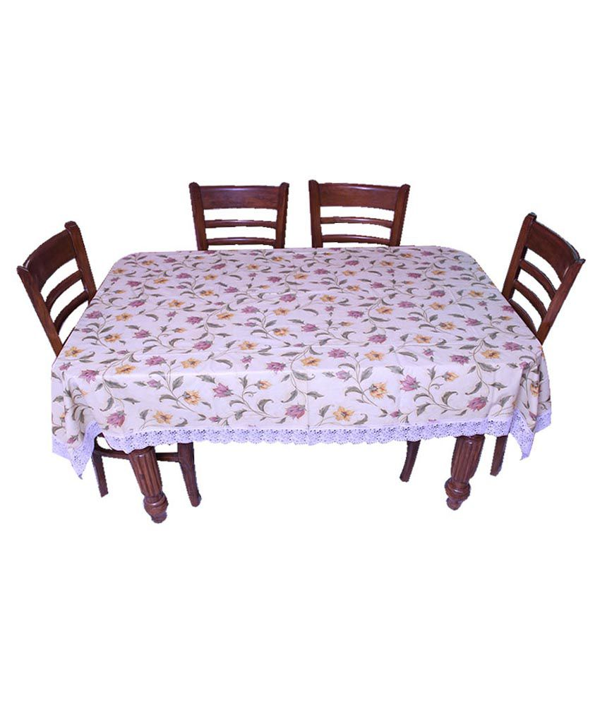 E-retailer Yellow Printed 8 Seater Dinning Table Cover