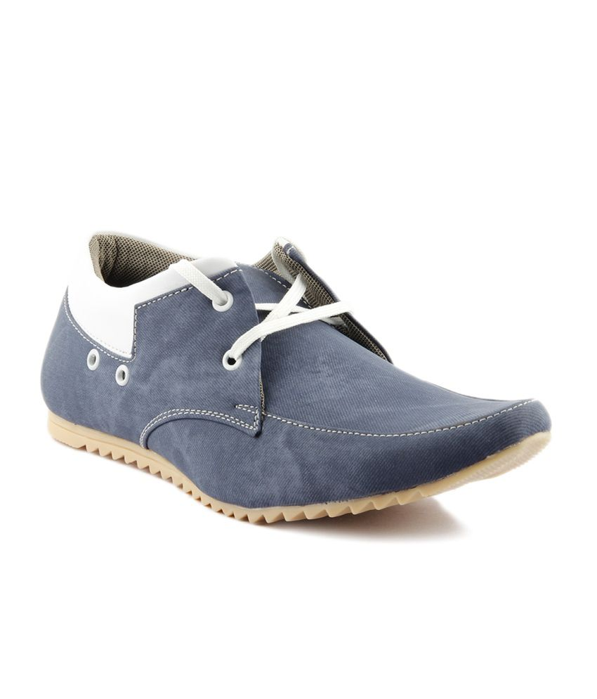 I Sole Turquoise Faux Leather Casual Shoes