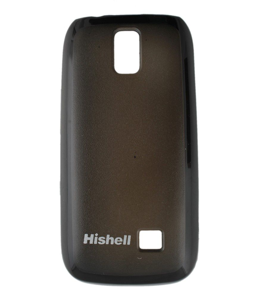 online store 59656 06d98 Hishell Back Cover for Nokia Asha 308 - Black
