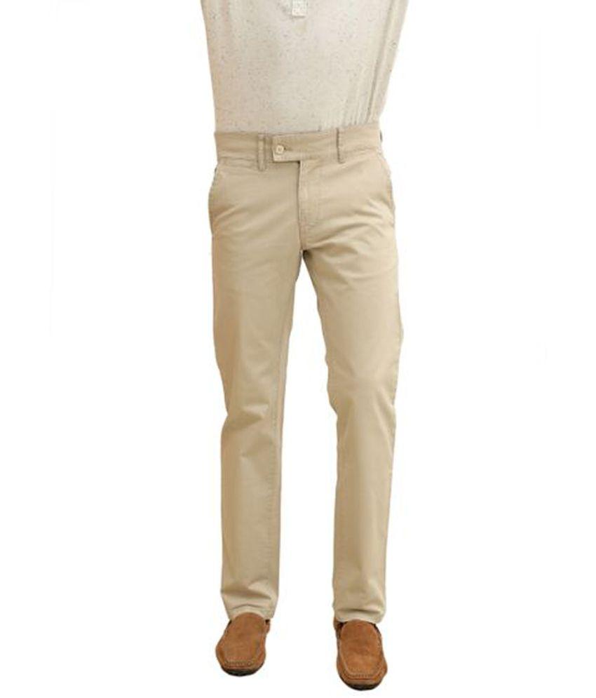 White House Sport Beige Cotton Blend Trouser