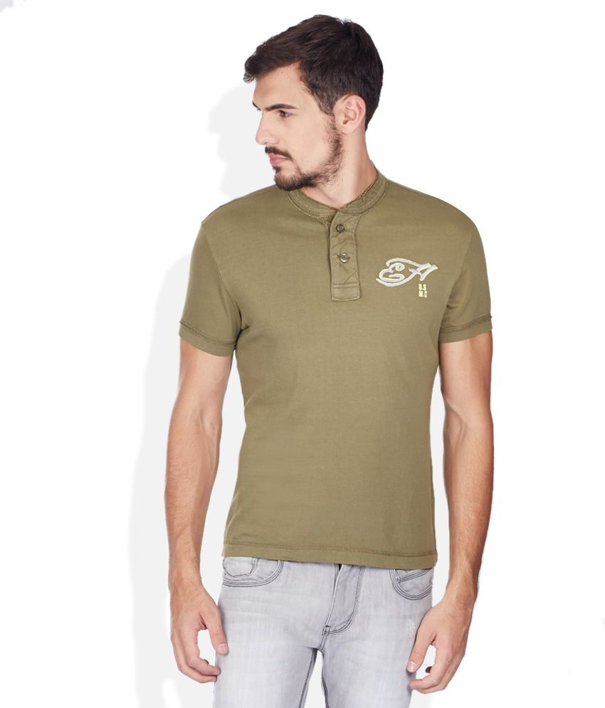 Ed Hardy Green V-Neck T Shirt