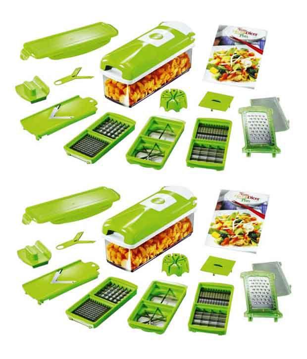 Noorstore Green Multifunctional Vegetable Cutter - Buy 1 Get 1 Free