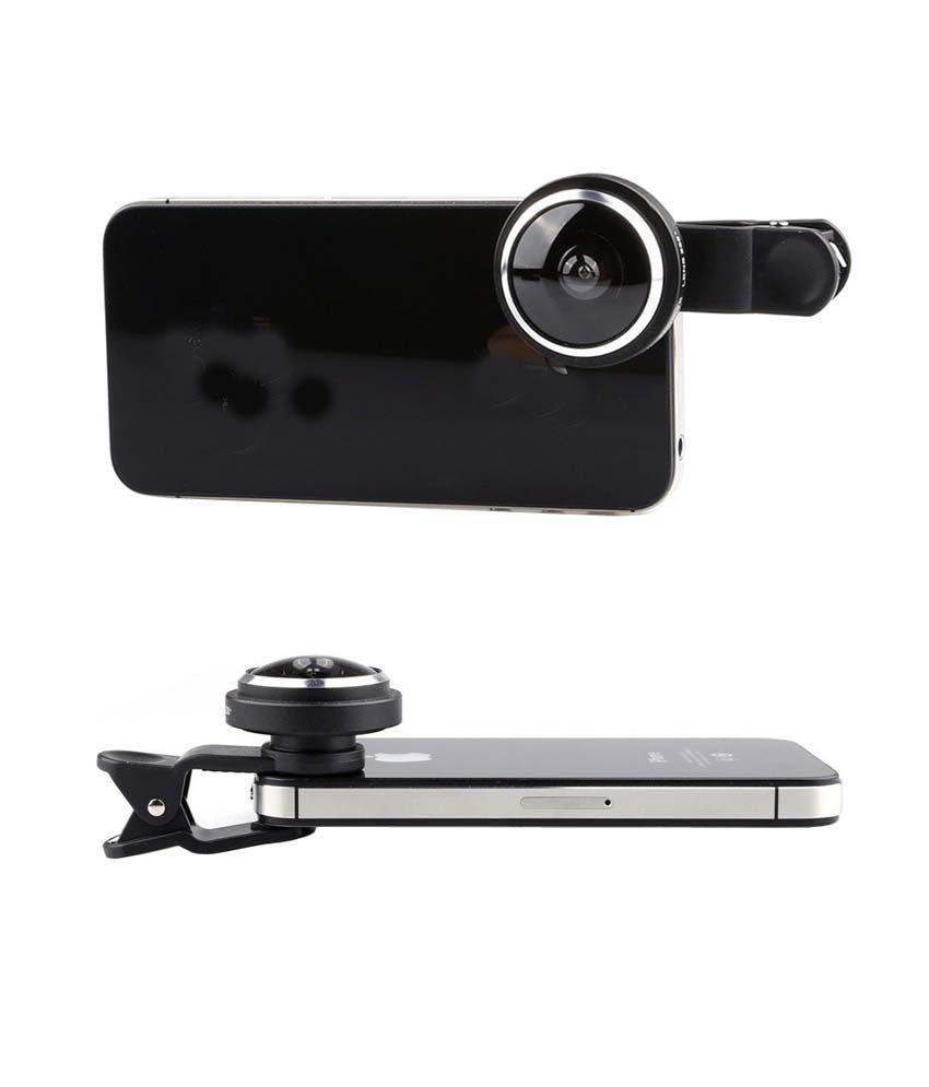 Smiledrive Universal Mobile Super Fisheye 235 Degree Lens - for Front &  Back Camera