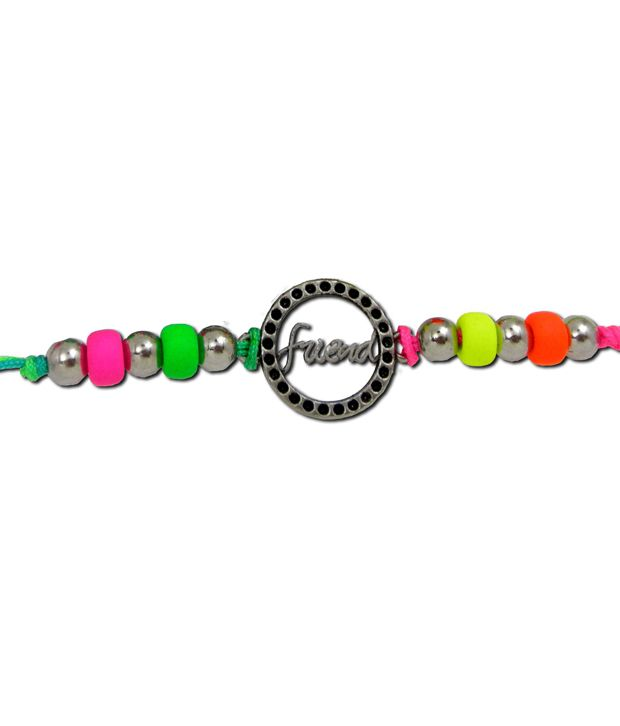 Get Fatang Multicolour Circle of Life Adjustable Charm Friendship Band