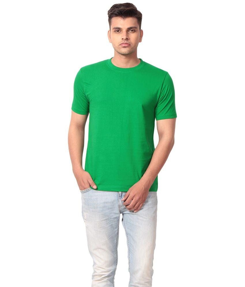 J & D Sales Green Cotton T-shirt