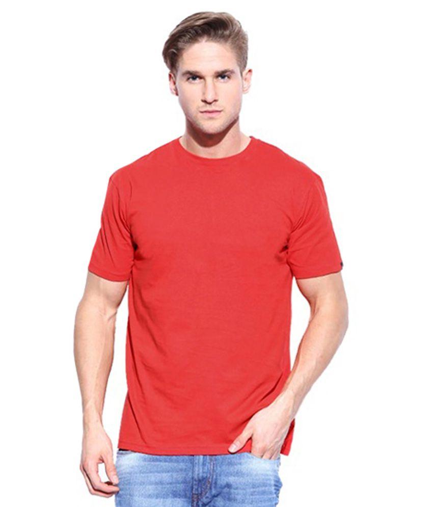 Wise Man Red Cotton Round Neck T-shirt
