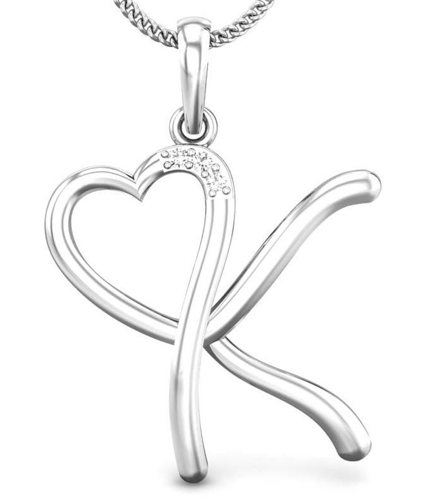 Candere K Love White Gold 18K Diamond Pendant  Buy Candere K Love White Gold  18K Diamond Pendant Online in India on Snapdeal 4ff88f65b