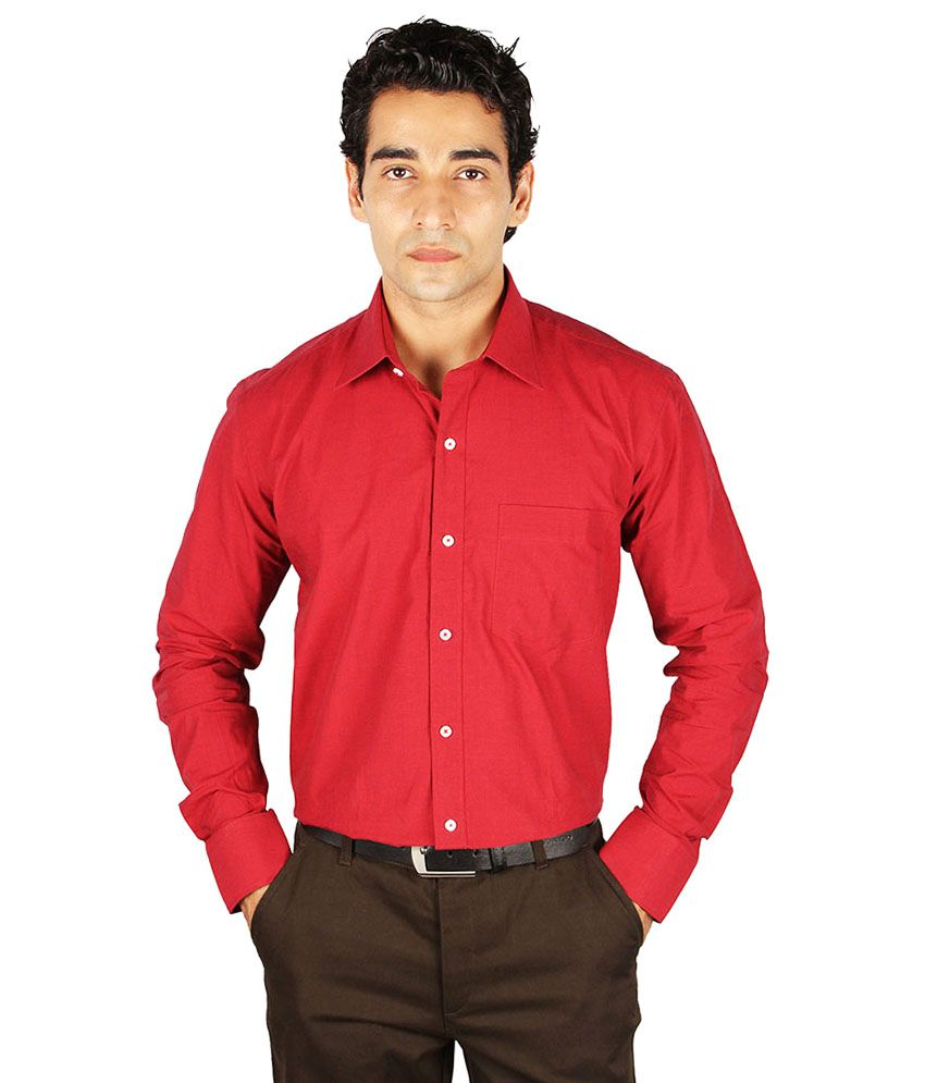dc2286b305b The Mods Men s Red Formal Shirt - Buy The Mods Men s Red Formal Shirt Online  at Best Prices in India on Snapdeal