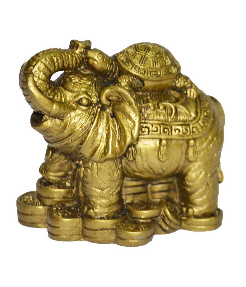 Anjalika Feng Shui Tortoise On Elephant - Beige