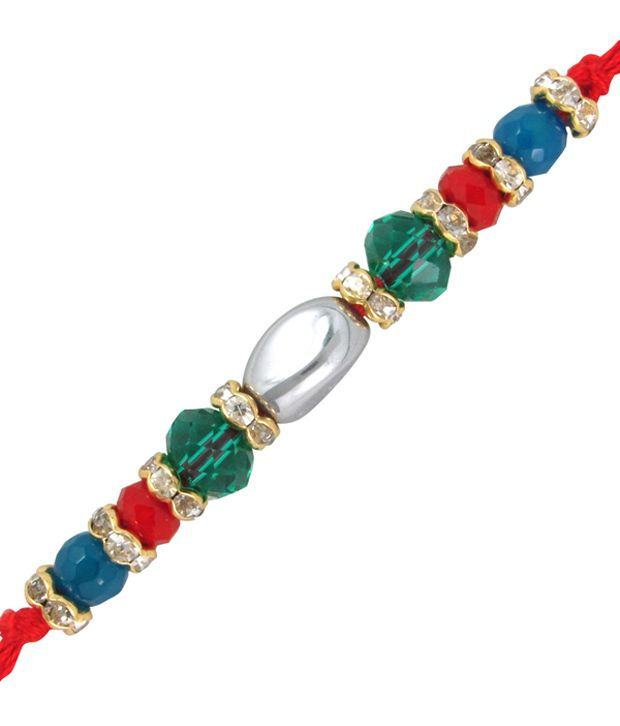 Mahi Gold Plated Classic Beads Rakhi
