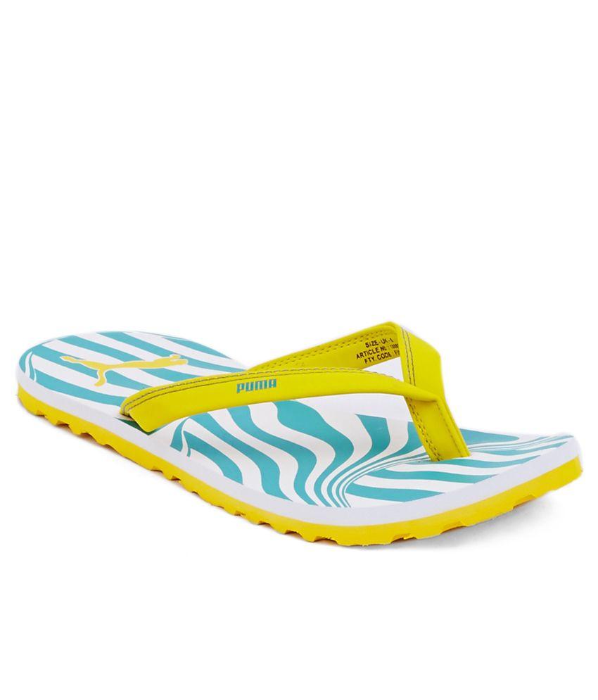 Puma Charon Yellow Slippers
